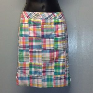 18a028681a 2P Talbots Plaid Lace Up Mini Skirt, used for sale